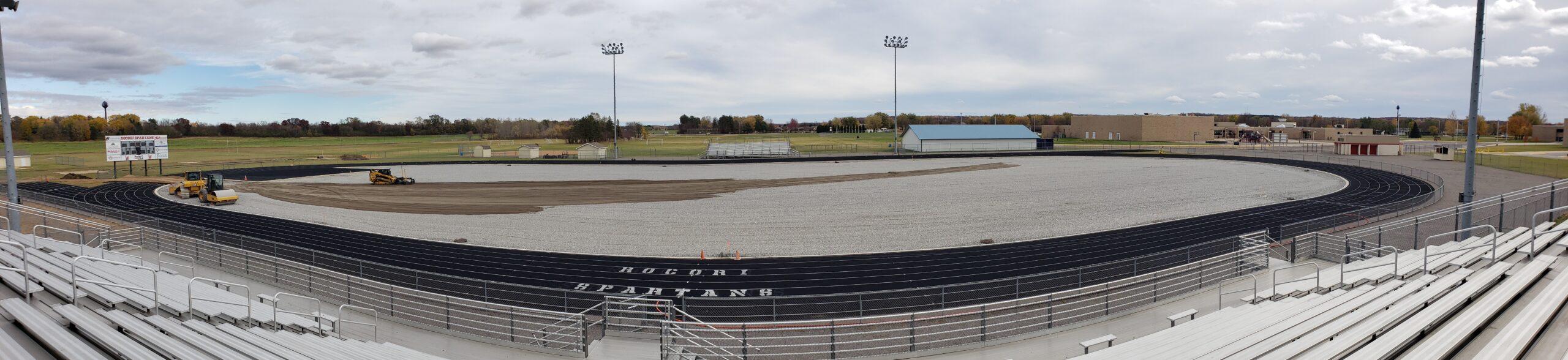 Rocori High School Football Field Construction